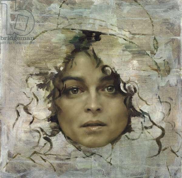 Helena Bonham Carter Head Study, 2013 (oil on canvas)