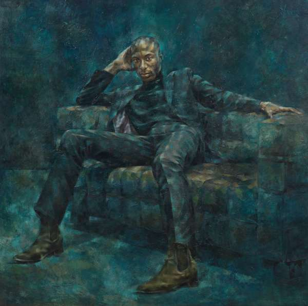 Ozwald Boateng, 1998 (oil on canvas)
