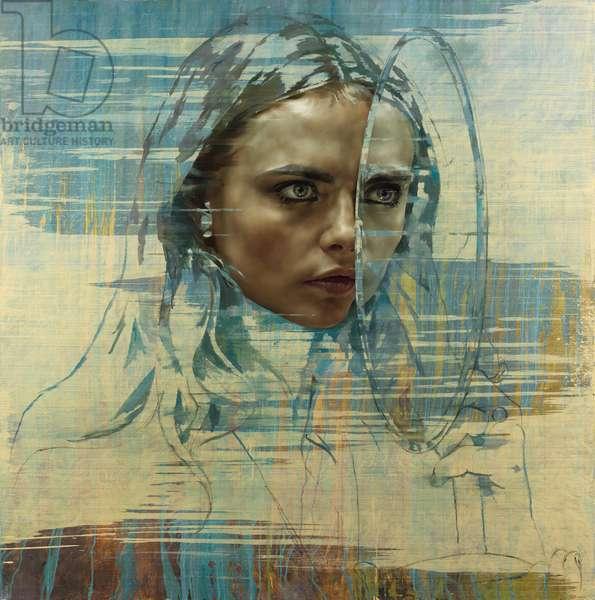 Cara VI (Mirror), 2015 (oil on canvas)
