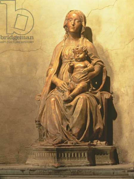 The Madonna of the Olives, detail of a tabernacle by Benedetto da Maiano (1442-97) and Giuliano da Maiano (1432-90) 1480 (marble)