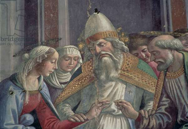 Receiving the Ring, from the Marriage of the Virgin (fresco) (detail)
