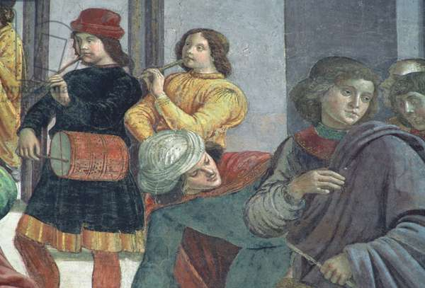 Musicians, from the Marriage of the Virgin (fresco) (detail)