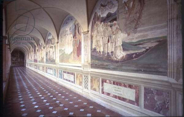 Corridor showing the Life of St. Benedict (fresco)