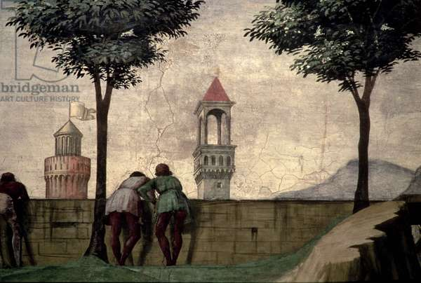 Men Looking over a Wall, from the Visitation (fresco) (detail of 60461)