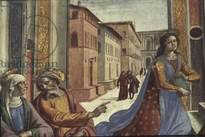 The Virgin Mary in the Temple (fresco) (detail)