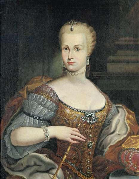 Portrait of the Wife of Pietro Leopoldo di Lorena, c.1750 (oil on canvas)