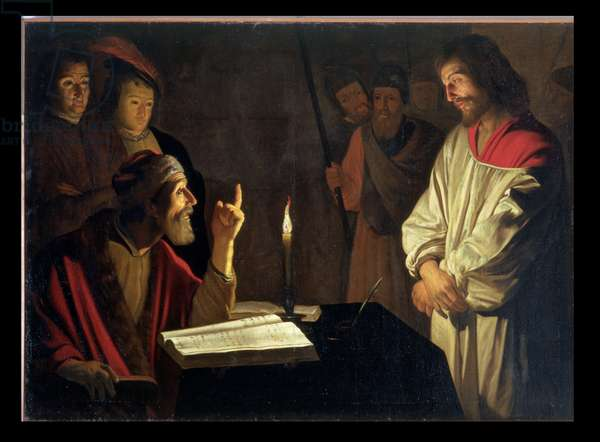 Christ Before Caiaphas (oil on canvas)