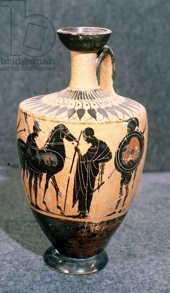 Black-figure Attic vase, 5th century BC