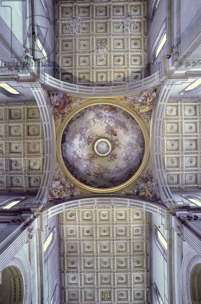 View of the interior of the cupola, built in 1425-46 (photo)