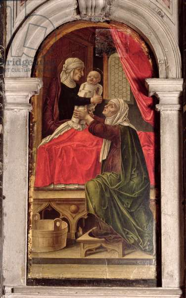 Triptych of the Madonna of the Misericordia, 1473 (oil on panel) (detail)