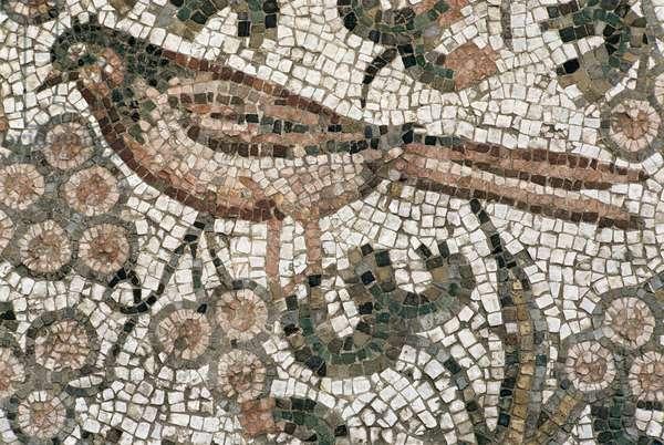 Floor pavement depicting a bird, 4th century AD (mosaic)