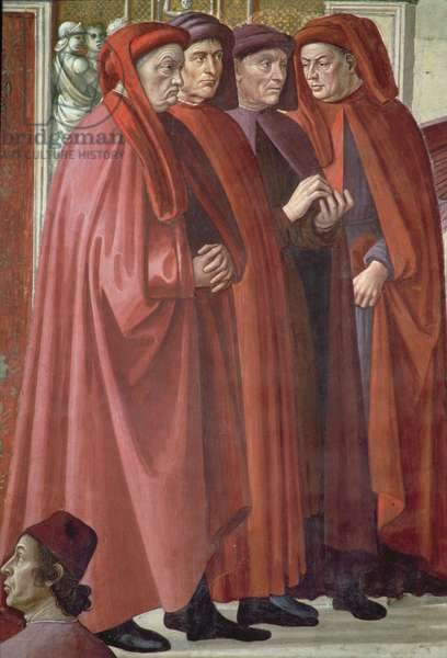 The Annunciation to St. Zacharias (fresco) (detail)