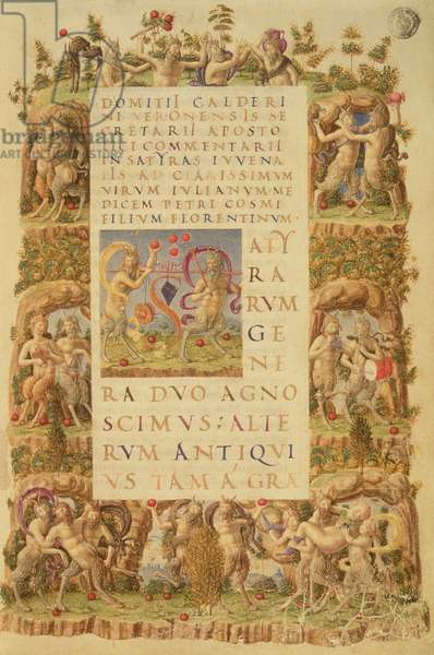 Pan and the Satyrs (vellum)
