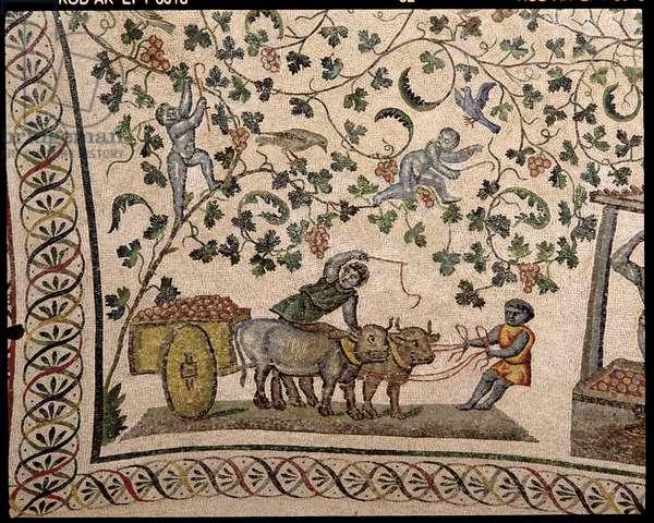 The Grape Harvest (mosaic)