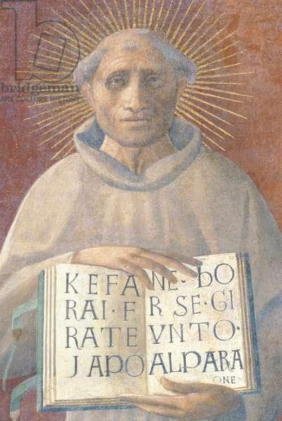 The Blessed Jacopone da Todi (c.1230-1306) (fresco)