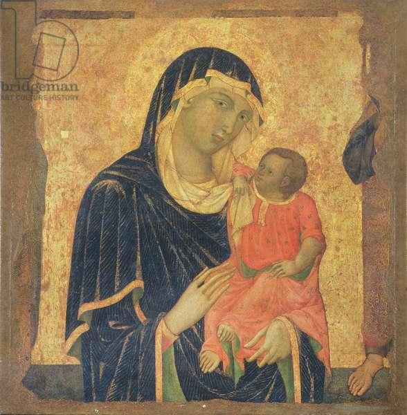 Madonna and Child (tempera & gold leaf on panel)