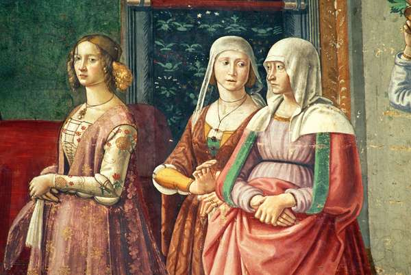 Florentine Ladies, from the Birth of St. John the Baptist (fresco) (detail of 60467)