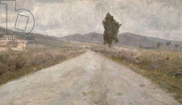 The Tuscan Road, c.1899 (board)