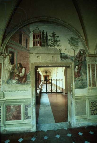 Doorway from the Monastery depicting the Life of St. Benedict (fresco)