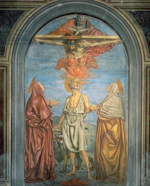 Holy Trinity with St. Jerome (fresco)