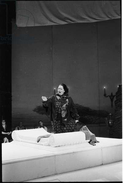 Montserrat Caballé, Paris, 1986 (b/w photo)