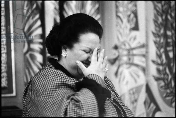 Montserrat Caballé, Paris, 1985 (b/w photo)