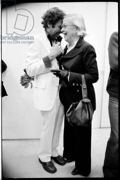 Robert Rauschenberg and Teeny Duchamp, Paris, 1975