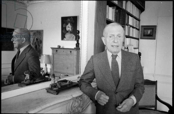 Michel Leiris at home in Paris, 1979