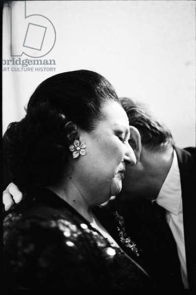 Montserrat Caballé, Paris, 1993 (b/w photo)