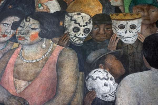 Detail from 'Fiesta en la Calle' by Diego Rivera, 1921
