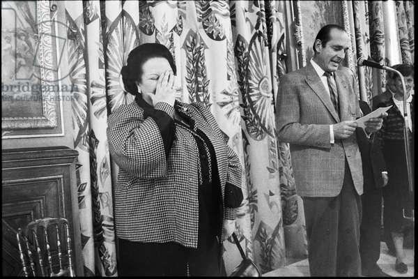 Montserrat Caballé (b/w photo)