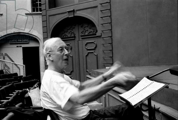 William Christie rehearsing for