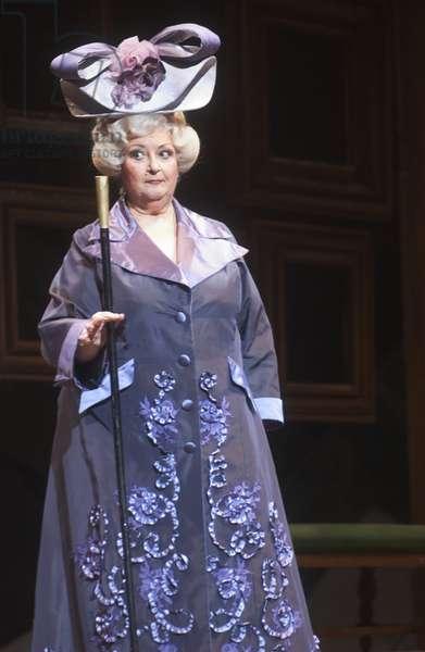 Montserrat Caballé as Duchesse de Crakentorp in 'La Fille du Régiment' by Gaetano Donizetti, Vienna Opera, April 2007 (photo)