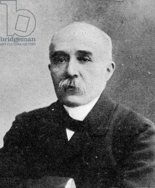 Georges Clemenceau, Prime Minister of France, published in 'The Graphic' October 27th 1906 (b/w photo)