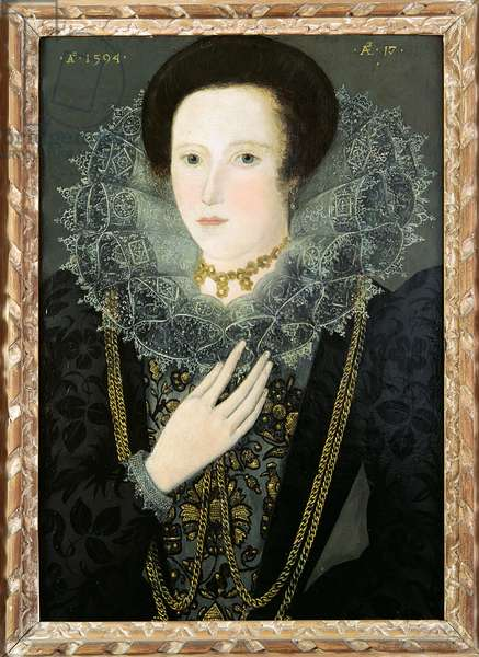 Dorothy Huddelston (nee Dormer), 1594 (oil on canvas)
