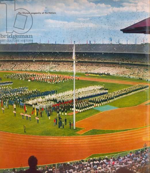 Opening Ceremony of the XVI Olympiad, the Olympic Games of 1956, at Melbourne Cricket Ground, the Main Stadium, 22 November, 1956 (photo)