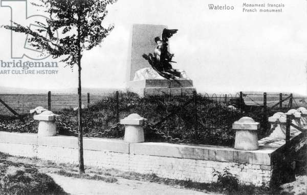 The French Monument to the Battle of Waterloo, commemorative postcard, c.1912 (photolitho)