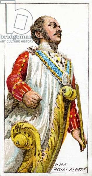 Figurehead of H.M.S. Royal Albert, 1912 (colour litho)