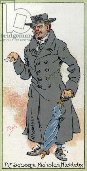 Mr. Squeers, from 'Nicholas Nickleby', 1923 (colour litho)