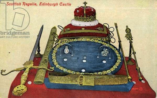 The Honours of Scotland, Scottish Regalia, 1900 (colour litho)
