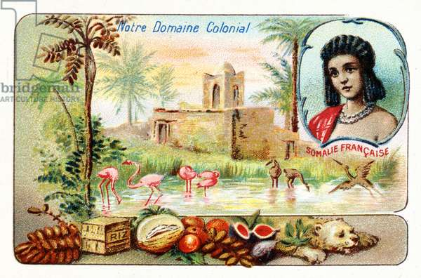 French Somaliland, from a series of collecting cards depicting the Colonial Domain of France, c.1910 (colour litho)