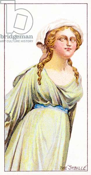 "The ""Sybille"" Figurehead, 1912 (colour litho)"
