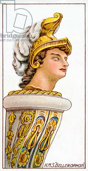 Figurehead of H.M.S. Bellerophon, 1912 (colour litho)