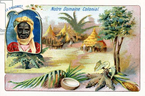 French Dahomey, from a series of collecting cards depicting the Colonial Domain of France, c.1910 (colour litho)
