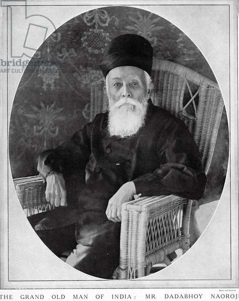Dadabhai Naoroji, The Grand Old Man of India, 1914 (b/w photo)