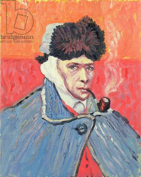 Van Gogh Smoking a Pipe (in the manner of Van Gogh)