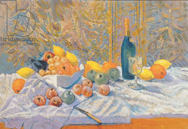 Still Life, in the manner of Paul Cezanne (1839-1906) (oil on canvas)