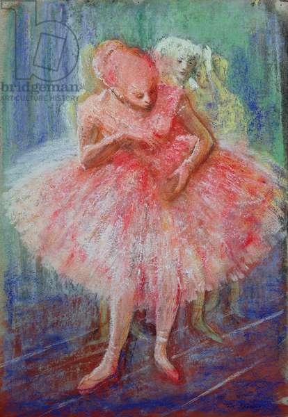 'Ballet', in the manner of Edgar Degas (1834-1917) (pastel on paper)