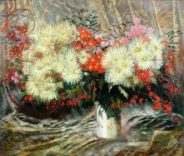 Still Life with Flowers, 1983 (oil on canvas)