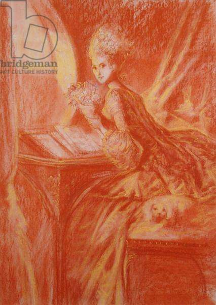 Eighteenth Century Young Woman (pastel on paper)